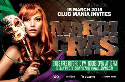 Mardi Gras Party Flyer v.4