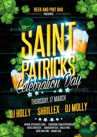 St. Patricks Celebration Party Flyer
