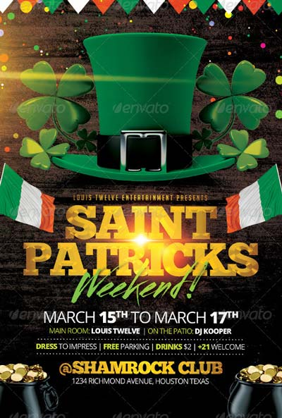 St Patricks Weekend | Flyer Template