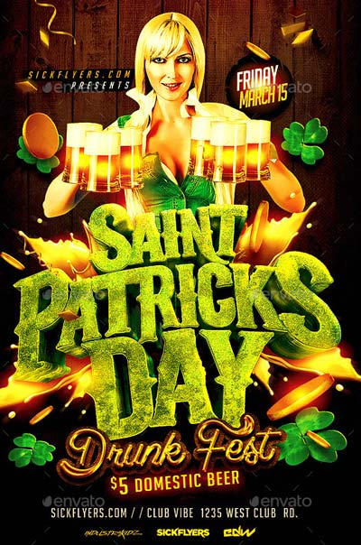 St Patricks Day Drunk Fest Party