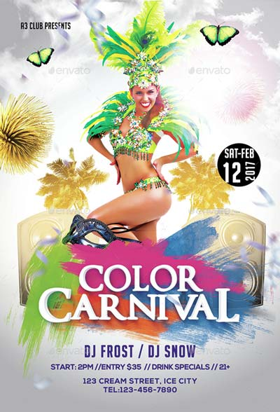 Color Carnival Flyer + Facebook Cover