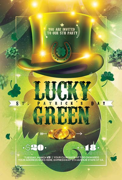 St. Patrick's Day Carnival Party Flyer/Poster