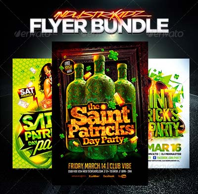 St Patricks Day Flyer Bundle