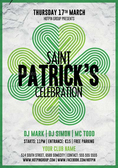 Saint Patrick's Day Flyer Template