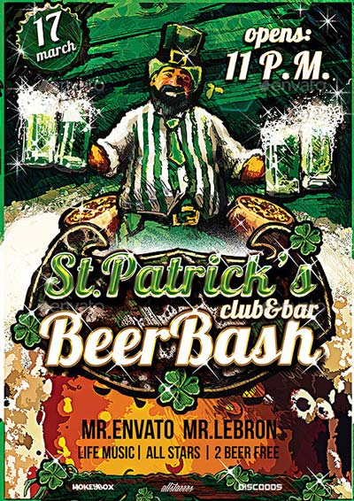 Flyer Saint Patrick Day