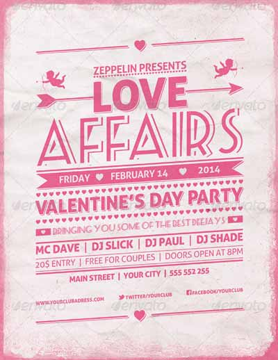 Valentine's Day Party - Event Flyer Template