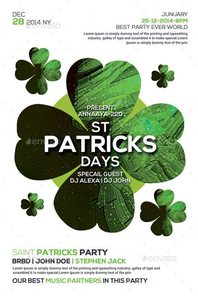 Saint Patricks Party Flyer Templates