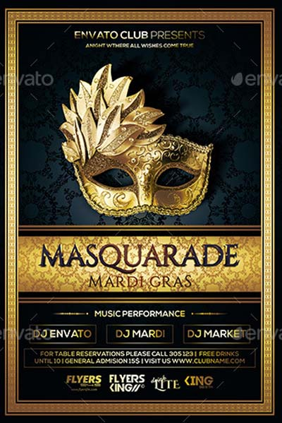 Mardi Glass Party Flyer 03