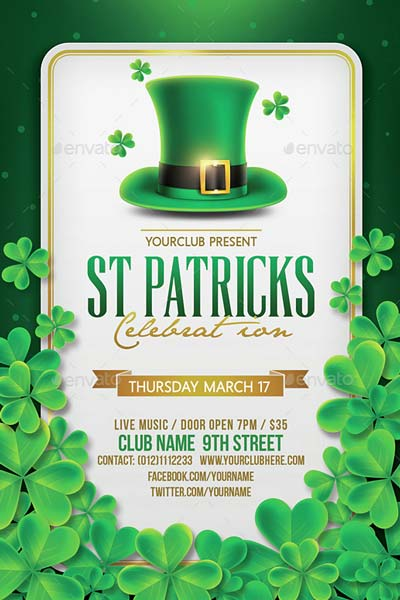 St Patricks Day Flyer & Facebook Cover