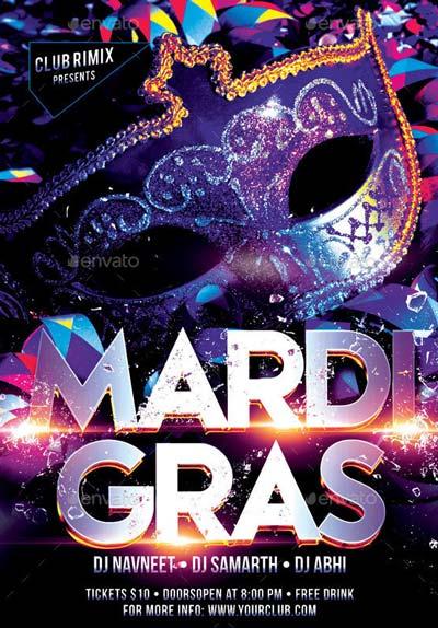 Mardi Grass Flyer Template