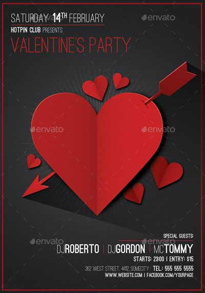 Valentines Day Minimal Flyer Template