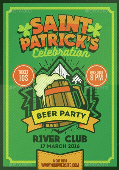 Saint Patrick's Beer Party Poster Flyer