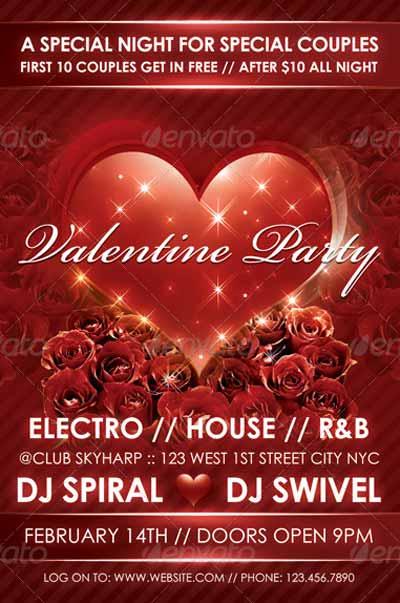 Love Sparks Valentine Flyer Template