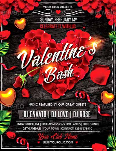 Valentines Day Bash Flyer Template