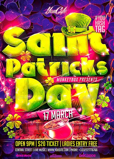 Flyer Saint Patricks Day Konnekt