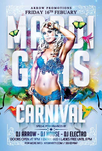 Mardi Gras Carnival Flyer Template