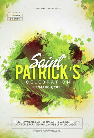St.Patrick's Day Celebration Party Flyer Template