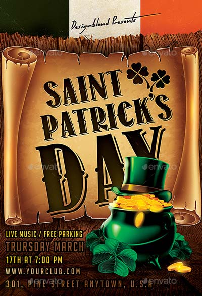 St. Patricks Day Festival Flyer Template PSD