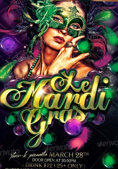 Mardi Gras Carnival Poster Template