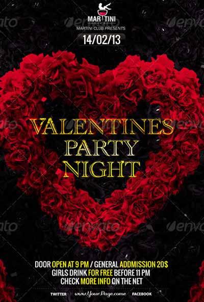 Black Valentine's Day Flyer Template