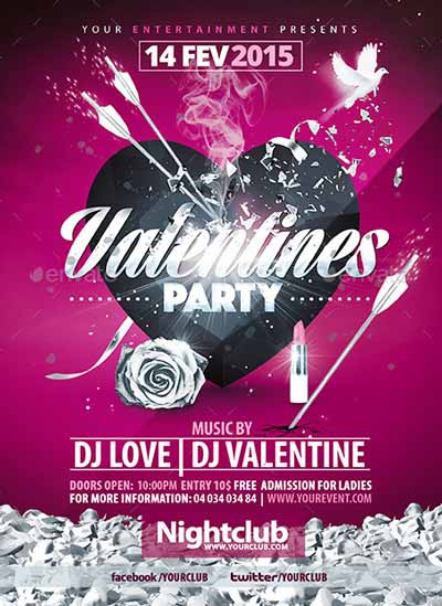 Valentines Party Flyer Collection