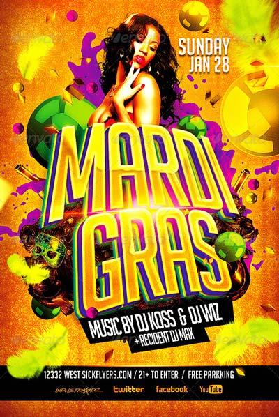 Mardi Gras / Carnival Flyer