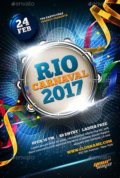 Carnaval 2017 Flyer Template