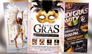 Top 100 Best Mardi Gras Flyer Templates 2017