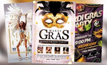 Top 100 Best Mardi Gras Flyer Templates 2017