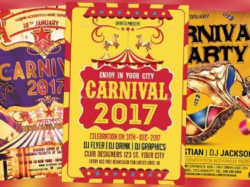 Top 30 Best Carnival Flyer Templates 2017