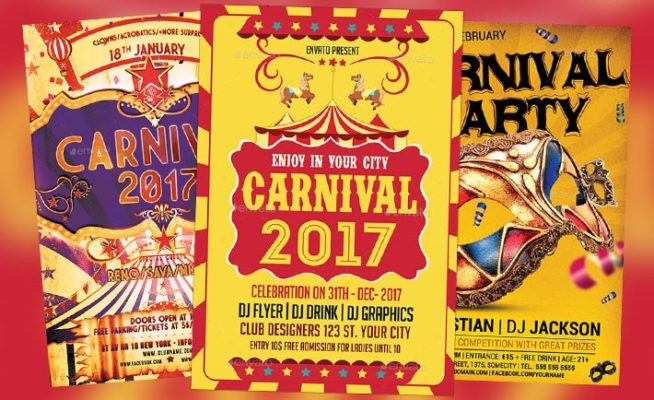 Top 30 Best Carnival Flyer Templates 2017 Download Psd Flyer For