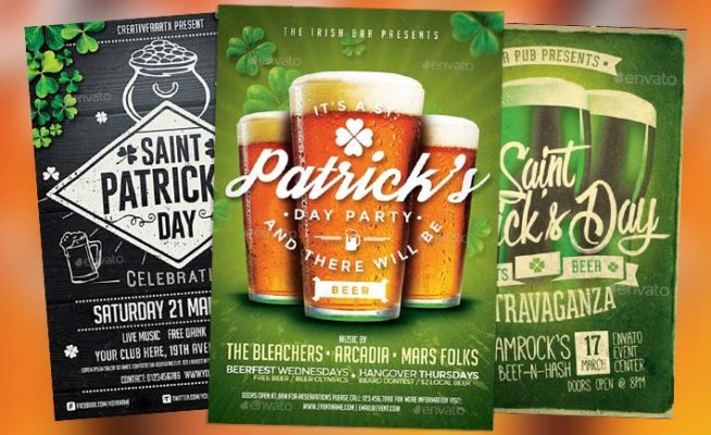 Top 75 Best Saint Patricks Day Flyer Templates 2017