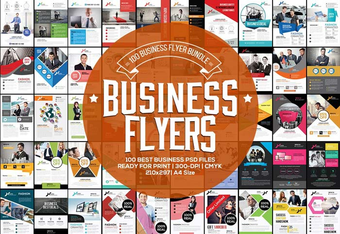 100 Fresh Business Flyers Bundle