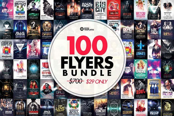 100 MASSIVE Flyer Bundle