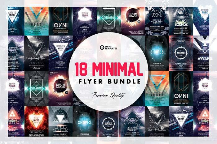 18 MINIMAL Flyer Bundle