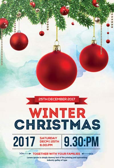 Christmas Winter Free PSD Flyer Template