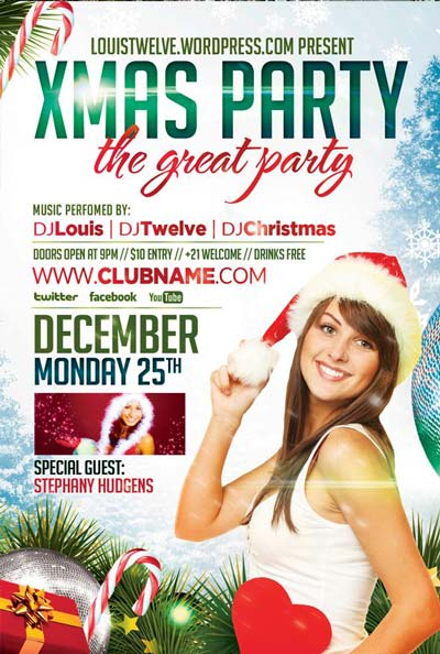 Free Xmas Party Flyer Template