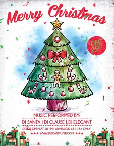 Merry X-Mas Free Christmas Flyer Template