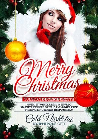 Free Xmas PSD Flyer Template