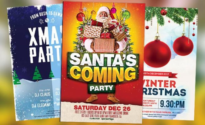 Best 35 Free Flyer Templates for Christmas Party Events