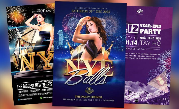 Best 30 Free Flyer Templates for New Year Party Events