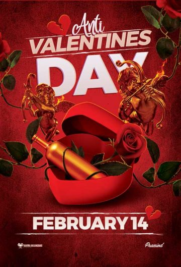 Free Anti Valentines Day Flyer Template
