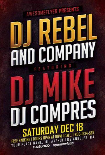 Free DJ Music Event Flyer Template