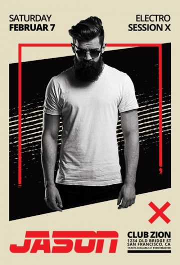 Free DJ Artist Vol 1 Flyer Template