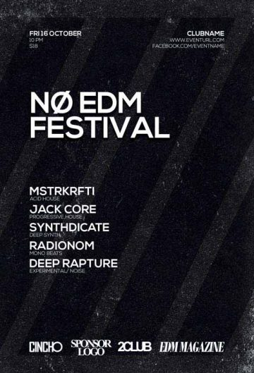 Free EDM Festival Flyer Template