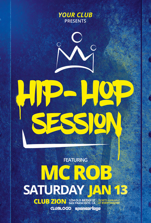 Free Hip Hop Session Flyer Template
