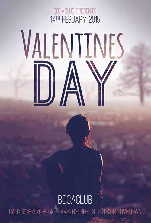 Free Minimal Valentines Day Flyer Template