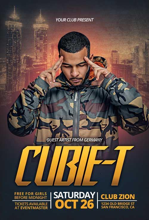 Free Urban Hip Hop DJ Flyer Template