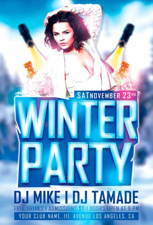 Free Winter Party Flyer Template