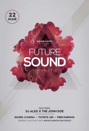 Free Future Sound Party Flyer Template